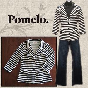 Structured Jersey Knit Blazer by Pomelo